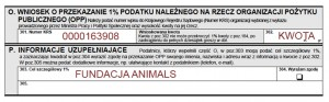 1% - Fundacja Animals
